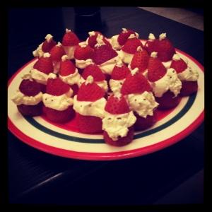Strawberry & Cream Santas