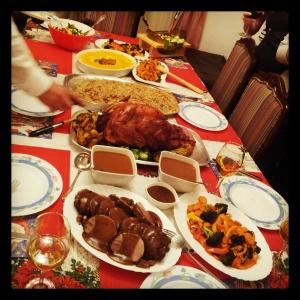 The Christmas Eve Table Spread